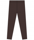 Leggings/Tights Chocolate Brun Ekologisk Bomull MAXOMORRA